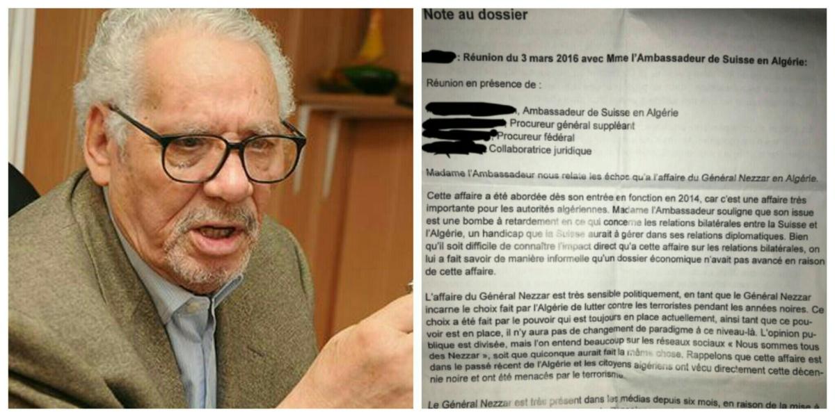 L'Algérie a fait pression sur la Suisse pour sauver Khaled Nezzar accusé de crime de guerre - K-DIRECT
