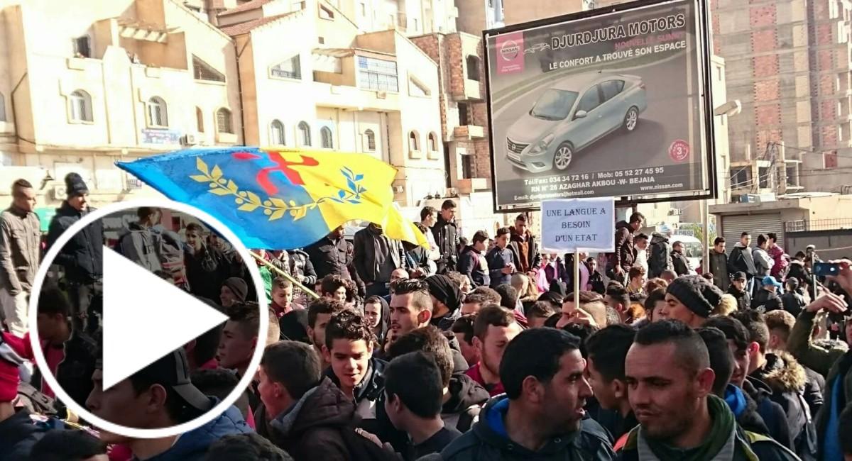 Des centaines de milliers d'écoliers manifestent partout en Kabylie pour défendre leur identité - K-DIRECT