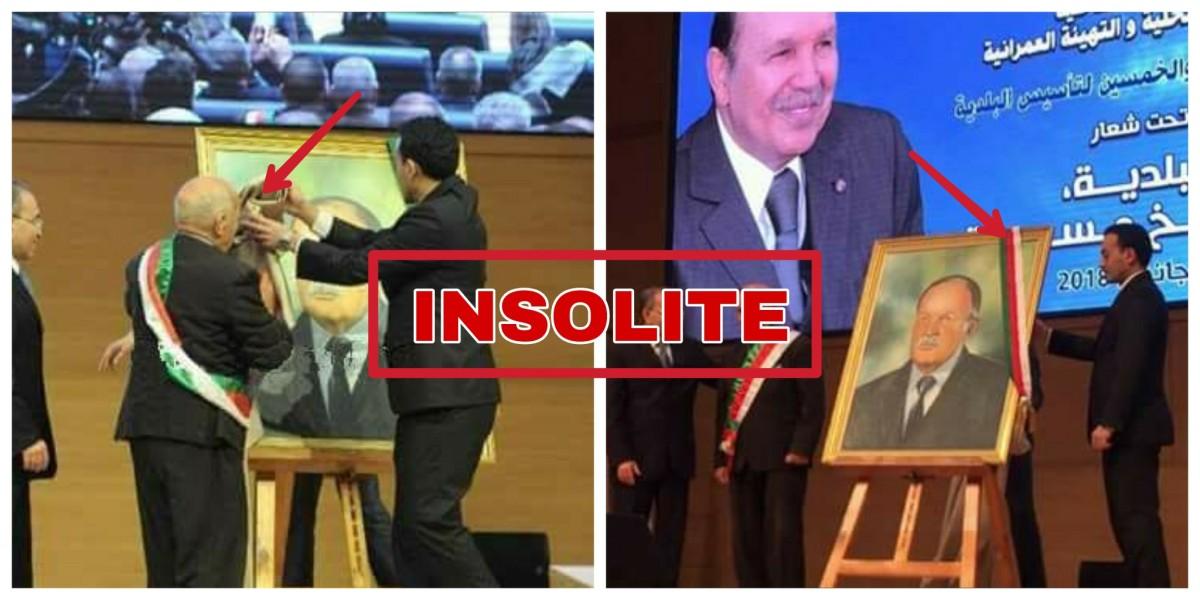Le Président algérien Abdelaziz Bouteflika honoré à travers son portrait par son ministre de l'intérieur - K-DIRECT